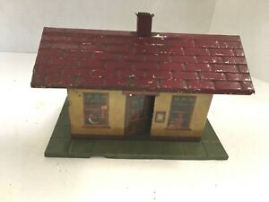 """RARE ANTIQUE 1920'S 8 9/16"""" WIDE IVES TRAIN STATION #201 FREE SHIPPING!"""