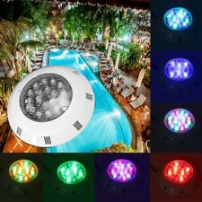 18W Multi-color LED Remote Swimming Pool Light Under Water RGB Waterproof  IP68