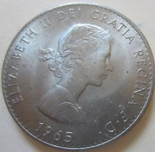 1965 Great Britiain 'Winston Churchill' Commemorative Coin. UNC/AU (K1848R)