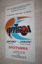 PROGRAMME )) DYNAMO KIEV V LAVAL )) Coupe d'Europe 1983
