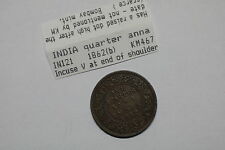 INDIA 1/4 ANNA 1862 BOMBAY RAISED DOT AFTER DATE VERY RARE A60 #K3320