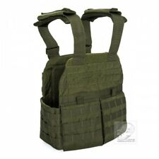 Voodoo Tactical X-Light Gen II Black Plate Carrier w/ Removable MOLLE Cummerbund