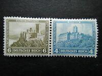 Germany 1932 Stamps MNH / MH Booklet Wartburg Stolzenfels Castle Deutsches Reich