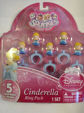 Squinkies Disney Princess Cinderella Ring Pack  Set of 5 NIP