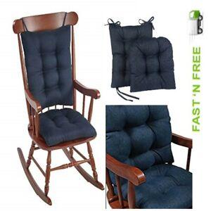 Indoor Non-Slip Rocking Chair Cushion Gripper Pad Omega Jumbo Garden Indigo