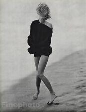 1987 Malibu 11x14 DARYL HANNAH Actress Movie Film Beach Photo Gravure HERB RITTS