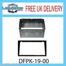 DFPK-19-00 Vauxhall Corsa Omega Black Double DIN Fascia Facia Adaptor Panel Kit