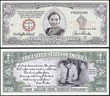 Rosa Parks Million Civil Rights Dollar Bill Fake Play Funny Money + FREE SLEEVE