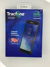 "Tracfone Samsung J7 Crown 4G LTE 5.5"" HD 16GB 13MP Smartphone W/ Android Oreo"