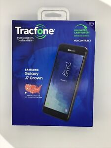 """Tracfone Samsung J7 Crown 4G LTE 5.5"""" HD 16GB 13MP Smartphone W/ Android Oreo"""