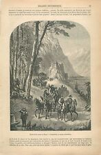 Chasse Lapin Faisans Steiermark Stajerska Styrie Autriche GRAVURE OLD PRINT 1860