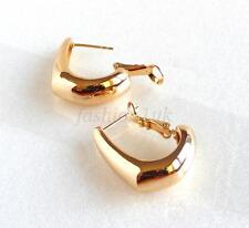 fashion1uk Women Creole Wide Medium 22mm Hoop Earrings Heavy 18K Gold Plated