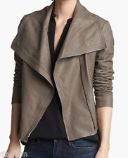 NWT Vince Light Dye Effect Crop Leather Moto Jacket Size M
