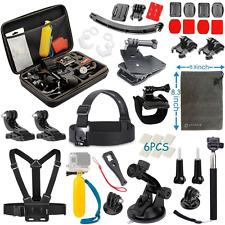 Vanwalk Accessories Kit for Gopro Hero 5 Session, Hero 4 3+ 3 2 1 Black Silver,