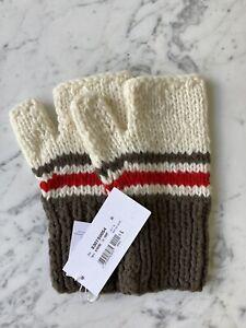 MAISON MARGIELA FW17 Fingerless Knit Mittens Gloves L NWT!