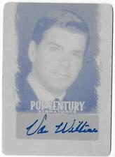 VAN WILLIAMS 2012 LEAF POP CENTURY BLACK PRINT PLATE AUTO 1/1 AUTOGRAPH CARD