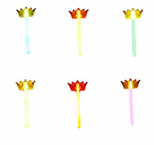 Zac's Alter Ego® Pack of 6 Assorted Colour Glow in the Dark Wands