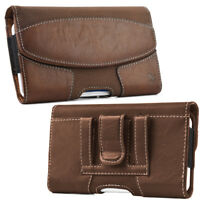 Luxmo Horizontal Plus Large Size Cell Phone Leather Case Pouch Belt Clip Holster