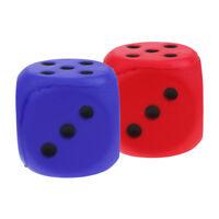 2pcs 6cm Sponge Dice Spot Foam Dice Child Kids Count Teaching Materials DIY