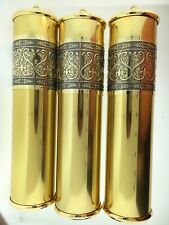 Grandfather Clock Weight Shell Set of 3 with Fancy Embossed Band