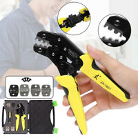 JX-D5 5 in 1  Dies Cable Wire Ratchet Crimper Crimping Pliers 4 Spare Tool