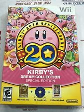Kirby 20th Anniversary Special Edition Nintendo Wii - COMPLETE CIB  - AUTHENTIC