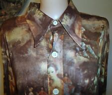 Vtg Woolf Brothers Xl 17 1/2 Painting Renaissance Theme To Die For Photos Shirt