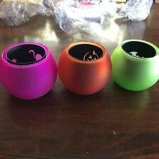 Partylite Halloween Votive Trio Cat Pumpkin Bat Shadows Inserts