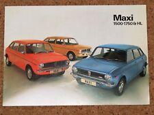 1976 AUSTIN MAXI Sales Brochure - 1750HL 1750 1500 - Pub No 3197/D