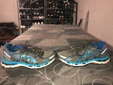 Asics Gel Kayano 19 Womens Running Training Shoes Size 9 Gray Blue T350N