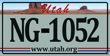 Plaque d'immatriculation américaine Utah (www.utah.org)
