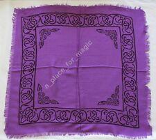 "NEW Celtic Border Purple Altar Cloth 18"" x 18"""