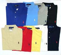 Ralph Lauren Men Polo Shirt T-Shirt Custom Fit LONG Sleeve
