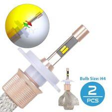 Pair 80W Dual Color H4 LED Headlight Bulbs High Low Beam Kit 11000LM Globe Lamp