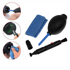 Lens Cleaner Cleaning Dust Pen Blower Cloth Kit for DSLR VCR Camera Canon Nikon
