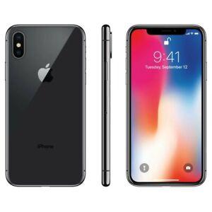 Apple iPhone X - 64GB - Space Gray (Unlocked) A1865 (CDMA + GSM)