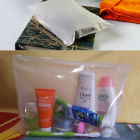 Clear Transparent Plastic PVC Travel Cosmetic Make Up Toiletry Zipper Bag ATAU