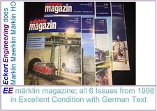 EE märklin magazine All 6 Issues from 1998 in Excellent Condition German Text