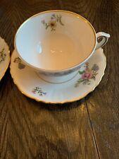 "Vintage Federal Shape Syracuse China ""Portland"" Teacup, Saucer MINT"