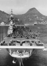 Korean War Photo USS Leyte CV-32 1951 US Navy Korea F9F Panther  / 7159
