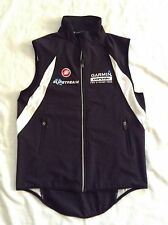 Castelli Full-Zip Garmin Women Black Vest Pro Cycling Team  Size Small SXS