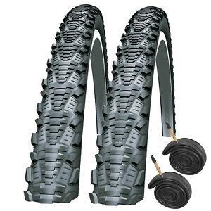 Cyclocross Bike Tyres & Presta Tubes Schwalbe CX Comp 700 x 30c (Pair)