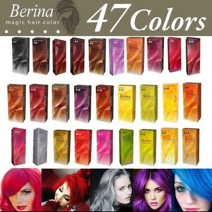 Berina Permanent Hair A1-A47 Colors Cream+Developer Hair Style Dye Professional