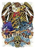 "Reproduction ""Foo Fighters - Australia 2008"",  Poster, Grunge, Home Wall Art"