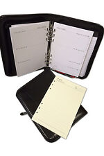 9978A (Filofax Standard) A-5 size zipped Binder with 6 Rings in PU Material Blac