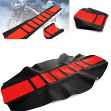 Durable Double Stitched Rubber/Vinyl Material Motorcycle Seat Cover Red Leather