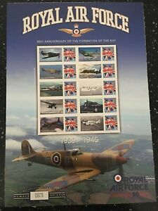 THE RAF CELEBRATING 90 YEARS.1939-1945. SHEET NUMBER 2. 1918 SHEETS PRODUCED