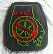 Baltimore County Narcotics 3D routed carved wood patch plaque sign Custom