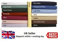 Plain Dyed 100% Cotton Fitted Bed Sheets In Multi Colors Single, Double, King