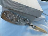 Stunning Antique Rococo Embossed Crumb Scoop Silver Hallmark Mount 1905 Fabulous